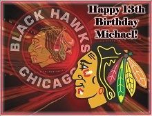 Chicago Blackhawks #1 Edible CAKE Icing Image topper frosting birthday