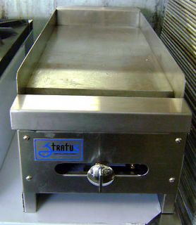 NEW 12 Gas Griddle 1 Burner Flat Grill NSF NEW By Stratus Commercial