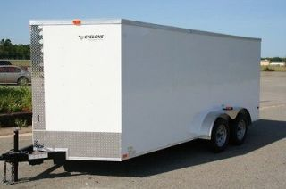 NEW 7X16 TANDEM AXLE ENCLOSED CARGO TRAILER MOTORCYCLE ATV 18ft 16ft 7