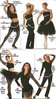 THINK YOU CAN DANCE Mix & Match Pieces & Accesories Dance Costume SIZE
