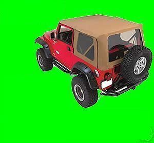2006 soft top Jeep Wrangler SPICE soft top skin + 3 TINTED windows