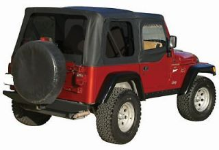 JEEP WRANGLER BLACK SOFT TOP PLUS UPPER SKINS AND TINTED REAR WINDOWS