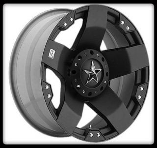 XD ROCKSTAR XD775 BLACK RIMS W/ 265/70/17 TOYO OPEN COUNTRY A/T TIRES