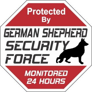 german shepherd security force dog sign  9