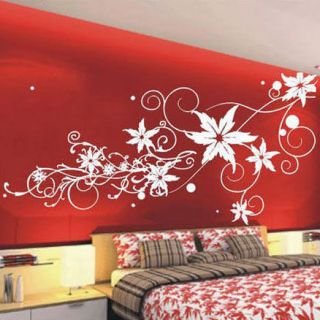 large vine flower butterfly wall stickers decals iil more options