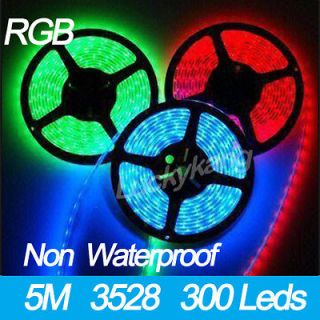 New RGB 3528 SMD LED Flexible Strip Tape lights 5M/300 leds