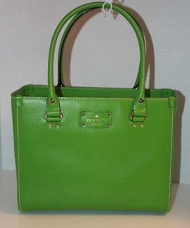 NWT KATE SPADE Wellesley Quinn Tote. Emerald Leather. Retail $398
