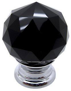 crystal glass handle knob cabinet door lily30 black lily30 black