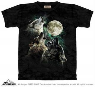 wolves three wolf moon adult t shirt by the mountain