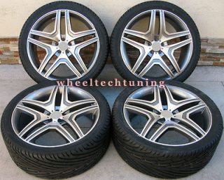 22 MERCEDES BENZ WHEEL AND TIRE PACKAGE   RIMS FIT MBZ GL350, GL450