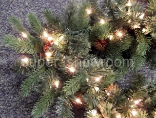 New 9 Long Pre Lit Thick Christmas Garland with 150 Super Bright