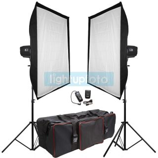 1200W Pro Photo Studio Flash Lighting Kit Carry Bag New