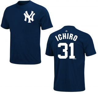 New York Yankees Ichiro Suzuki Navy Name and Number Jersey T Shirt Tee