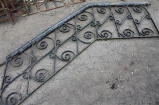 wrought iron stair railing   outdoor or indoor 4.25 ft. Long + landing