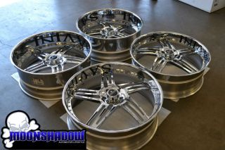 26 SAVINI SV20 CHROME MULTIPIECE STAGGERED WHEELS RIMS OLDSCHOOL CHEVY