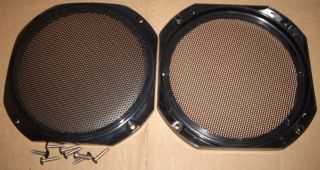 Black Deluxe 5 or 5 25 Speaker Grill Pair Door Auto