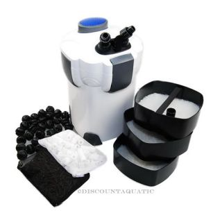 75 Gallon Aquarium Fish Tank External Canister Filter Media Kits Self