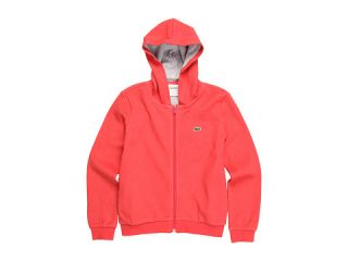 Lacoste Kids Girls L/S Full Zip Pique Hoodie (Toddler/Little Kids/Big