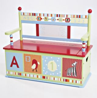 Cocalo Baby Alphabet Soup Kids Toy Box Bench Chest New