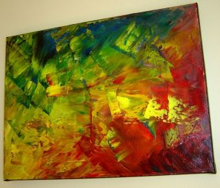 FINE ART ABSTRACT MODERN OIL KNIFE PAINTING CANVAS by Eugenia Abramson