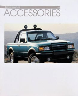 1993 Ford Ranger Pickup Truck Accessories Brochure