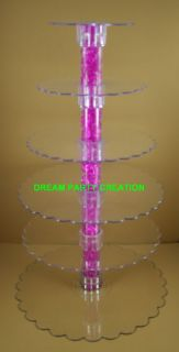 Tier Clear Acrylic Cupcake Cake Centerpiece Stand
