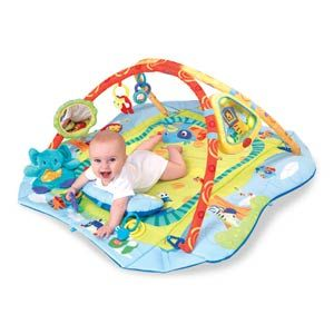 Bright Starts Babys Play Place Activity Gym Mat Toys N