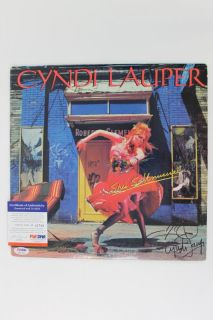 Cyndi Lauper Signed Album Cover w Vinyl PSA DNA H61769
