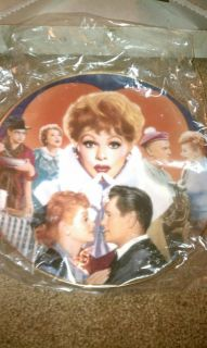 MIB COA Lucille Ball Commemorative I LOVE LUCY Plate 23KT Rimmed