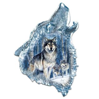Al Agnew Crystalline Wolf Twilight Majesty Howling Wolfs Head Wall