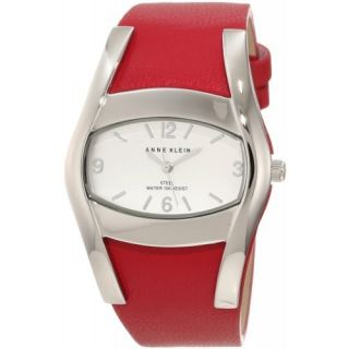 anne klein women s ak 1087svrd leather watch watch information brand