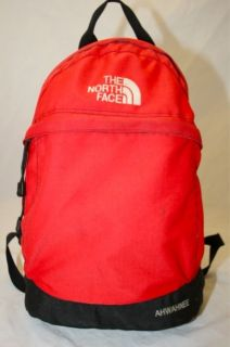 THE NORTH FACE AHWAHNEE RED BLACK HIKING SCHOOL BOOKS BACKPACK