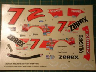 decals, Revell/Monogram, 1987 Alan Kulwicki Ford T Bird, 1/24 scale
