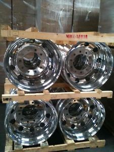 19 5 ALCOA WHEELS RIMS FORD F450 FORD F550 DUALLY TRUCK SET OF 4