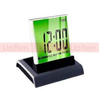 Calendar Digital Magic 7 Colors Lights LED Alarm Clock Timer