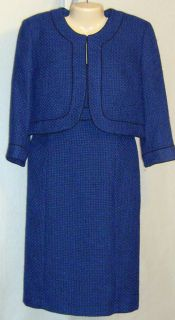 Alex Marie Dress Suit Bolero Jacket Royal Black 14