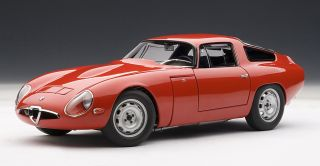 Autoart 70196 1 18 1963 Alfa Romeo TZ Red Diecast Scale Model Car