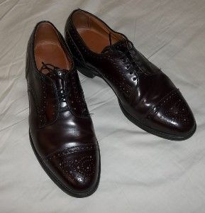 Allen Edmonds Sanford Burgundy Brown Oxford Leather Dress Shoes US 9 5