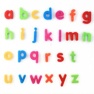 26pcs Multi Color Small Letters Alphabet Magnetic Fridge Sticker for