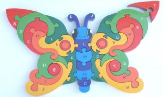Butterfly Wooden Jigsaw Puzzle Toy Montessori Toys A Z