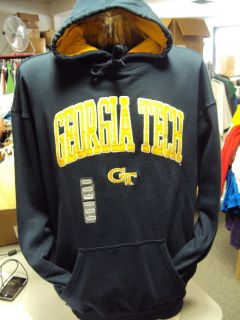 NEW GEORGIA TECH YELLOW JACKETS NAVY BLUE HOODIE HOODED SWEAT SHIRT