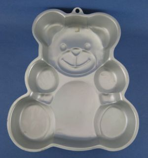 Wilton Teddy Bear Aluminum Cake Baking Pan Mold Vintage