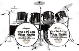 Miniature Drums Personalized Custom Wedding Cake Topper Table Display