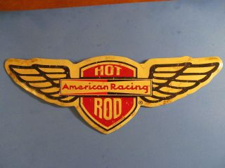 American Racing Wheels Hot Rod Metal Sign Rat Drag Race Gasser Von