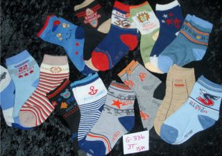 15 Pair Lot Baby Toddler Kids Boys Colorful Crew Socks 3T Free