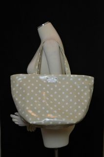 Kate Spade Anabel Dizzy Dot Tote Bag Cream Beige Canvas Purse WKRU1393