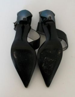 Amazing Gucci Black Leather Ankle Strap Heels Sz 5 5