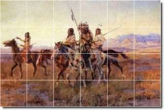 Russell Native American Ceramic Kitchen Tile Murals 4