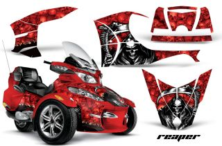 AMR Racing Graphics Decal Wrap Kit for BRP Canam Spyder RT Can Am Grim