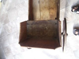 Antique 19thC Childrens Wooden Pull Toy Wagon The Paris Manufacturing